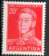 Argentina 1955 - Josè De San Martin Generale E Politico General And Politician * MH - Militaria