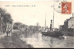CAEN Départ Du Bateau Du Havre 1908 Collection LD - Caen
