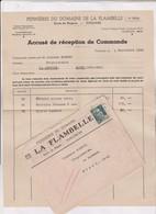 ACCUSE DE RECEPTION DE COMMANDE PEPINIERES DOMAINE DE LA FLAMBELLE A TOULOUSE En 1945 ! - 1900 – 1949
