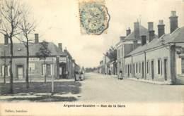 18 - ARGENT SUR SAULDRE - Rue De La Gare En 1906 - Argent-sur-Sauldre