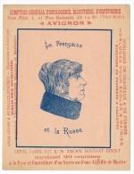 AVIGNON (Vaucluse) - Publicité Comptoir Général D'Horlogerie -Illusion Optique : La Française Et La Russe - Reklame