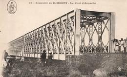 Djibouti Cpa Carte Souvenir De Djibouti Le Pont D' Aouache - Djibouti