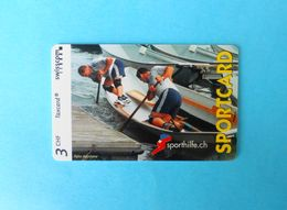 SPECIALTY .. SPORTCARD - Rowing Aviron Kayak Kayac Canu ?? - Switzerland Special Issue Card Without Chip * Sporthilfe.ch - Suisse