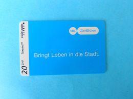 SPECIALTY ... VBZ & ZURI LINIE - Switzerland Special Issue Card Without Chip * Verkehrsbetriebe Zürich VBZ Transport - Suisse