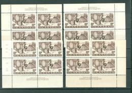 Canada O26 Fur Trade Drying Platee 2 Set Block Of 4 Overprinted Official G MNH 1950-51 A04s - Officials
