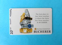 BUCHERER Switzerland Special Card Without Chip * Rolex Rado Tag Heuer Chopard Piaget Audemars Piguet Baume & Mercier IWC - Suisse