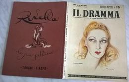 IL DRAMMA N. 417/418 1° 15/1/44 VIVI GIOI/ A. PAGANI/ E.ANTON/ BRIGNONE, VOLPI/ RUGGERI, CIALIENTE...  (3) - Libri, Riviste, Fumetti