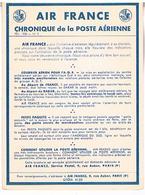 AIR FRANCE  CHRONIQUE  DE LA POSTE  AERIENNE   N°2    TBE  AF09 - Aérodromes