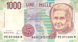 1000 Lire Italien 1990 VF/F (III) - [ 2] 1946-… Republik