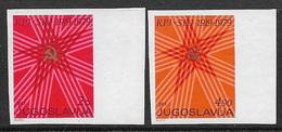 Yugoslavia 1979 MNH Imperforated Party Congress Variety Set  Mi#1784/85 - 1945-1992 République Fédérative Populaire De Yougoslavie