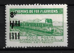 ALGÉRIE / ALGERIA 1947 - YT Colis Postaux 167** - Variété Sans Surcharge Controle Des Recettes - Colis Postaux