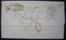 Allevard (isère) 1848 Eug. Charrière & Cie, Lettre Pour Lyon - Marcophilie (Lettres)