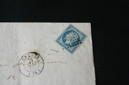 NAPOLEON III N°14d (bleu/vert) Signé Calves .superbe Lettre + VARIETE Sur Le 1er E à Empire (la Jambe Du Bas Qui Relève - 1853-1860 Napoléon III
