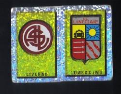 Figurina Calciatori Italiani Panini 1997-1998 - Livorno E  Lumezzane  - N.236  Scudetto  - Football - Soccer - Socker - - Edizione Italiana