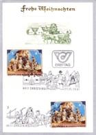 1981 Weihn. 1981: Weihnachtskrippe FDC 4411 U. Letzttag Karte  (ANK 1723, Mi 1691) - FDC