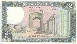 LEBANON 250 LIVRES 1983 P- 67b With Control Number  UNC */* - Lebanon