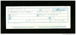 Biglietto Ferroviario Italia - F.S. Regione Liguria - Abbonamento Settimanale - Europa