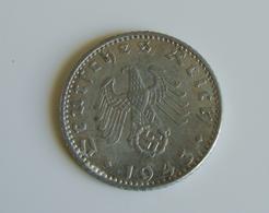 1943  DEUTSCHES REICH GERMANY NAZI 50 Reichspfennig  Allemagne - 50 Reichspfennig 1943 A - [ 4] 1933-1945 : Third Reich