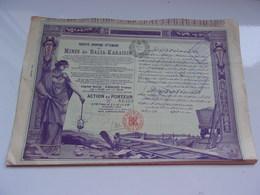 OTTOMANE DES MINES DE BALIA KARAIDIN (capital 6,6 Millions (1908) - Shareholdings