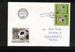 Hungary / Ungarn 1998 World Cup France Interesting Cover - 1998 – Francia