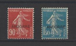 ANDORRE.  YT  N° 12-13  Neuf *  1931 - Andorre Français