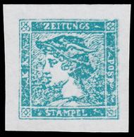 Occupazione Austriaca - Lombardo Veneto: Francobolli Per Giornali / Testa Di Mercurio (3 Cent.) Azzurro - 1851 (B) - Ungebraucht