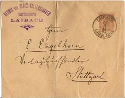 AUTRICHE SLOVENIE ENTIER LETTRE COMMERCIAL OBLITERE DE LAIBACH(LUBJANA) POUR L'ALLEMAGNE - 1850-1918 Empire