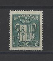 ANDORRE.  YT  N° 56  Neuf *  1937 - Unused Stamps