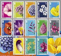 Gibraltar   2004  Bloemen Flowers  Blumen   Frankeerzegels Defenetives  13v    Postfris/mnh/neuf - Gibraltar