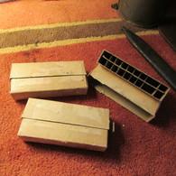 3 Empty WW1 U.S. Krag Rifle Blank Cartridge Boxes - 1914-18