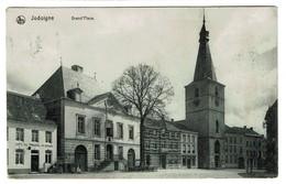 Jodoigne - Grand'Place - Café Du Tribunal Vve Béguin - Circulée - Edit. A. Soille-Leloux - 2 Scans - Jodoigne