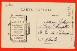 DIM094 SAINT-NAZAIRE (44) Le DOLMEN Tampon Pub Louis LANDAS Journaux Place MARCEAU 1910s à SOURDILLE Nantes St - Saint Nazaire