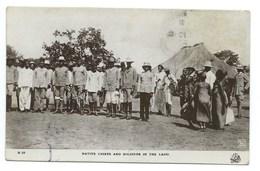 CARTE POSTALE SOUDAN  NATIVE CHIEFS AND SOLDIERS IN THE LADO 1918 / POUR TUNIS TUNISIE / CACHET CENSURE 896 - Soudan