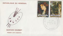 Enveloppe  FDC  1er  Jour   SENEGAL   Oeuvre  De   COURBET   1977 - Senegal (1960-...)