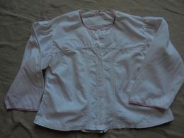 Ancien Chemisier En Coton Blanc Années 50 - 1940-1970