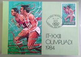 MALTA 1984 MAXIMUM CARD XXIII OLIMPIADI - Malta