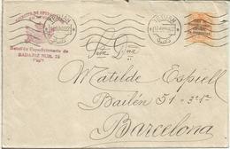 MARRUECOS TETUAN 1922 A BARCELONA EJERCITO DE OPERACIONES EN AFRICA BATALLON BADAJOZ 73 - Spanisch-Marokko
