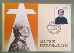 MALTA 1988 MAXIMUM CARD PERSONALITIES - Malta