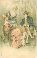 Couple -        Homme , Femmes Et Chiens                 S1147 - Koppels