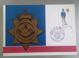MALTA 1988 MAXIMUM CARD UNIFORMS - Malta