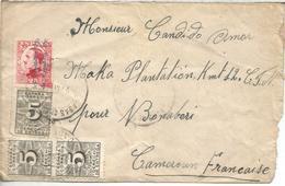 SEGUNDA REPUBLICA CC A CAMERUN DESDE CACERES CASAS DEL .... CON SELLOS DERECHO DE ENTREGA - 1931-50 Brieven