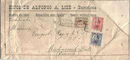 SEGUNDA REPUBLICA CC A FRANCIA MUESTRAS SIN VALOR CERTIFICADA SELLOS VAQUER 1932 - 1931-Hoy: 2ª República - ... Juan Carlos I