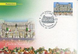 ITALIA - FDC MAXIMUM CARD 2006 - BRIGATA SASSARI - CADUTI DI NASSIRYA -  ANNULLO SPECIALE - Cartoline Maximum