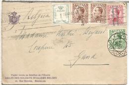 SEGUNDA REPUBLICA BARCELONA A BELGICA 1931 UN SELLO CANCELADO EN DESTINO CON LLEGADA - 1931-50 Cartas