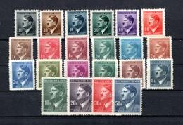 Böhmen Und Mähren  1942  Mi # 89-110 **/MNH   Adolf Hitler - Bohême & Moravie