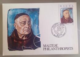 MALTA 1986 MAXIMUM CARD PHILANTROPIST - Malta