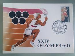 MALTA 1988 MAXIMUM CARD XXIV OLIMPIADI - Malta