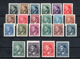 Böhmen Und Mähren  1942  Mi # 89-110  O    Adolf Hitler - Bohême & Moravie