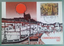 MALTA 1987 MAXIMUM CARD COMMEMORATIONS - Malta