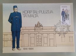MALTA 1984 MAXIMUM CARD POLICE - Malta